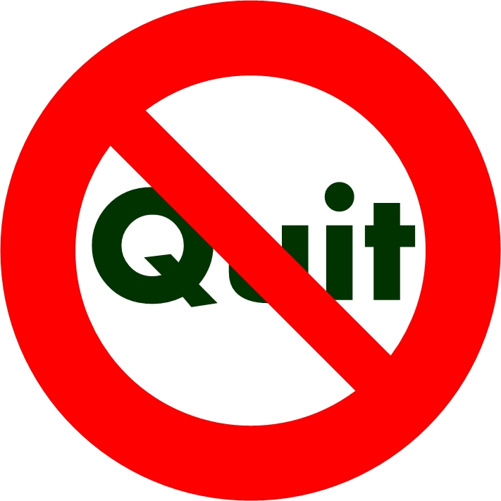 Kick The Quitter Out of Your Life!