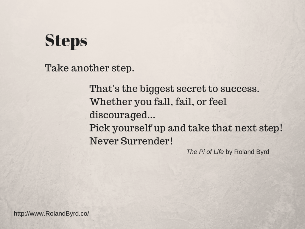 Take another step