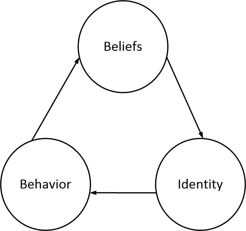 Beliefs Identity and Behavior
