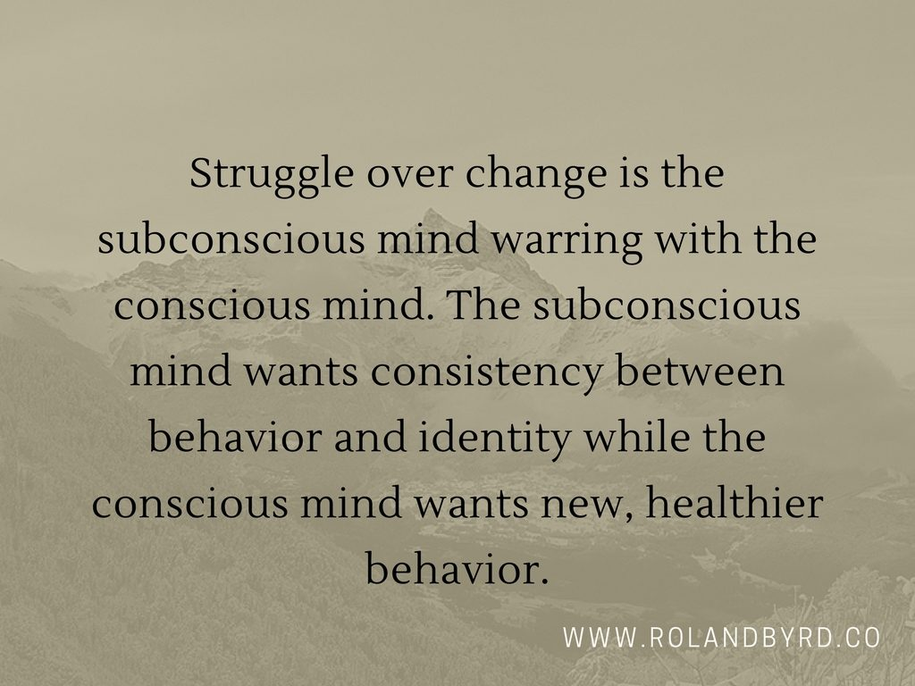 Subconscious mind warring with conscious mind